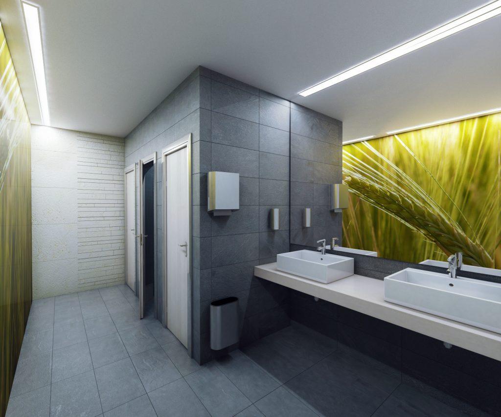 Дизайн общественные туалеты